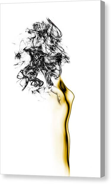 Bright Canvas Print - Naked 2 by Roberto Marini