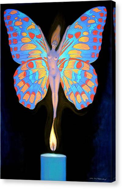Naked Butterfly Lady Transformation Canvas Print