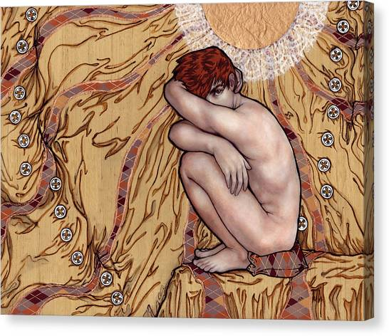 Naked Man In A Clothed World Canvas Print