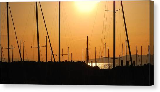 Naked Masts Canvas Print