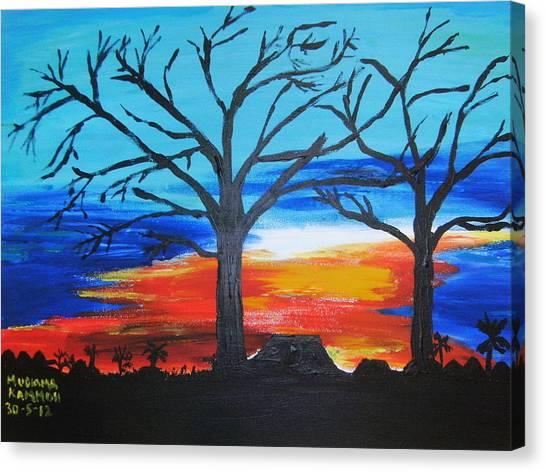Naked Twin Sisters At Baoma Kpengeh Canvas Print
