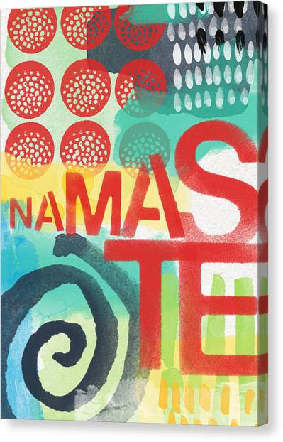 Dots Canvas Print - Namaste- Contemporary Abstract Art by Linda Woods