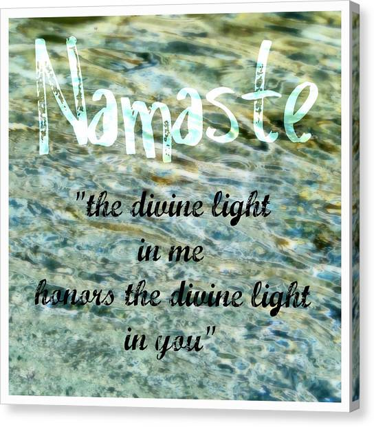 Namaste With Crystal Waters Canvas Print