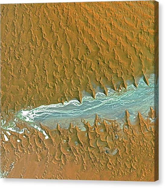 Namib Desert Canvas Print - Namib Desert by Cnes,2006 Distribution Spot Image/science Photo Library
