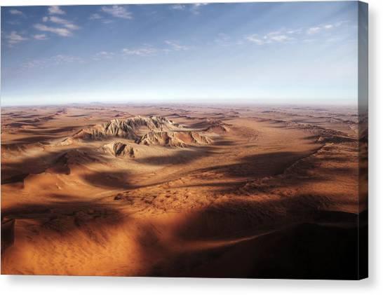 Namibian Sand Dunes View From Plane Canvas Print by Mariusz Kluzniak