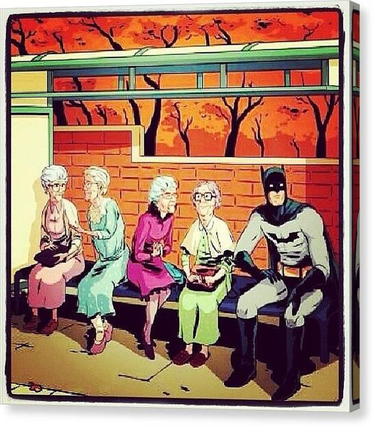 Superhero Canvas Print - Nana Nana Nana Nana #batman by Nat Lawrence