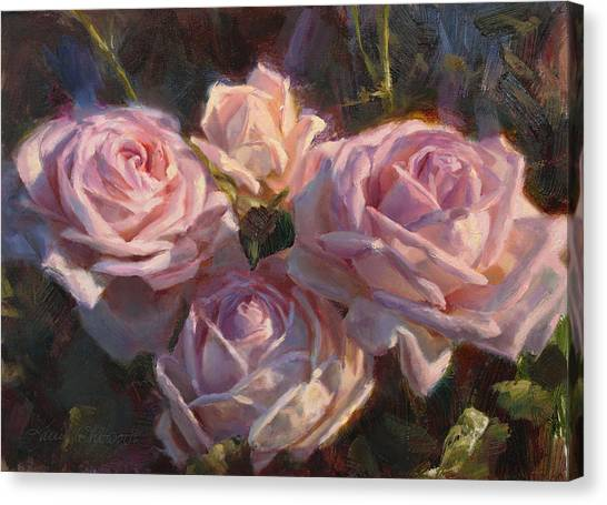 Queen Elizabeth Canvas Print - Nana's Roses by Karen Whitworth