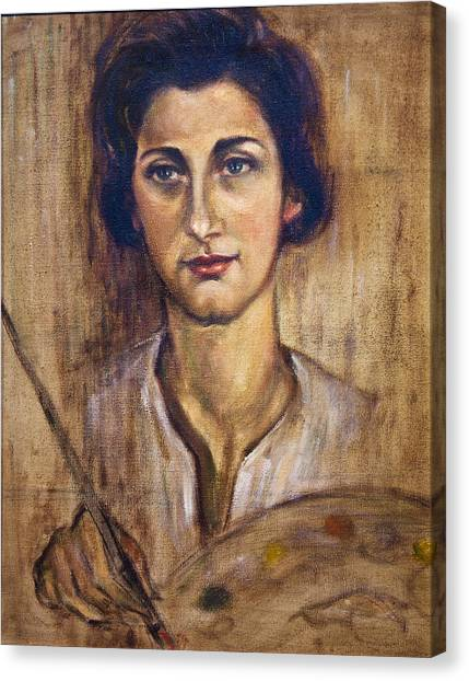 Nancy Kominsky - A Self-portrait Canvas Print by    Michaelalonzo   Kominsky
