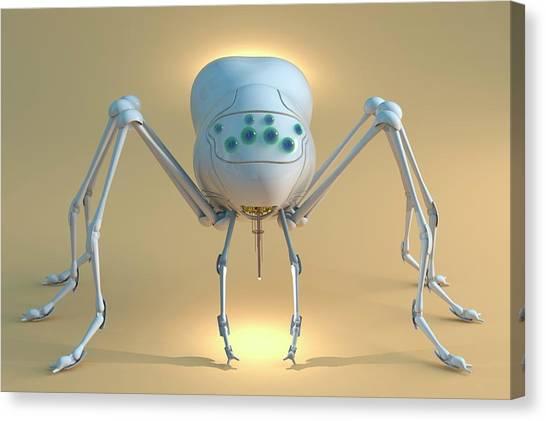 Future Tech Canvas Print - Nanobot Spider by Tim Vernon