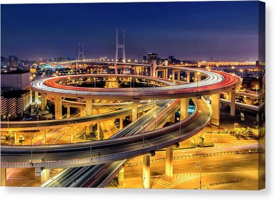 China Canvas Print - Nanpu Bridge by Hua Zhu
