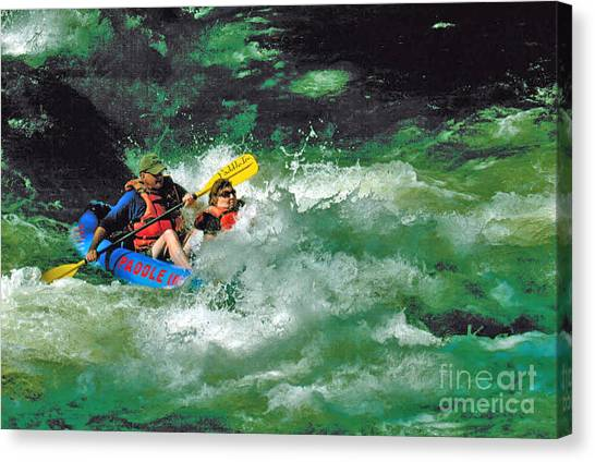 Nantahala Fun Canvas Print by Don F  Bradford
