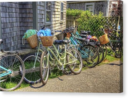 Nantucket Bikes Canvas Print