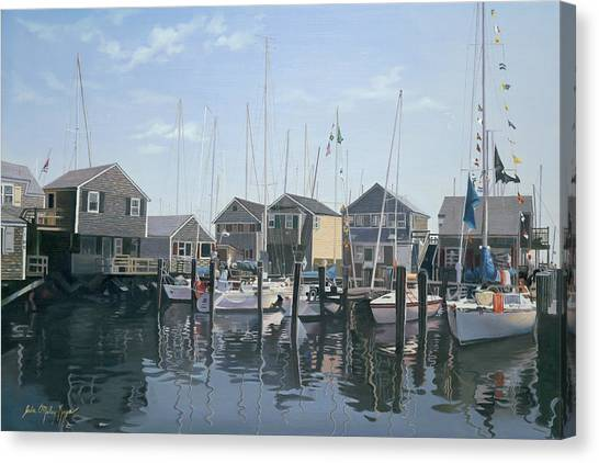 Marthas Vineyard Canvas Print - Nantucket Harbor Meet by Julia O'Malley-Keyes