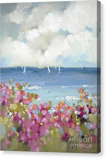 Water Canvas Print - Nantucket Sea Roses by Joyce Hicks