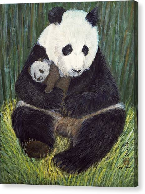 Panda Canvas Print - Nap Time by Komi Chen