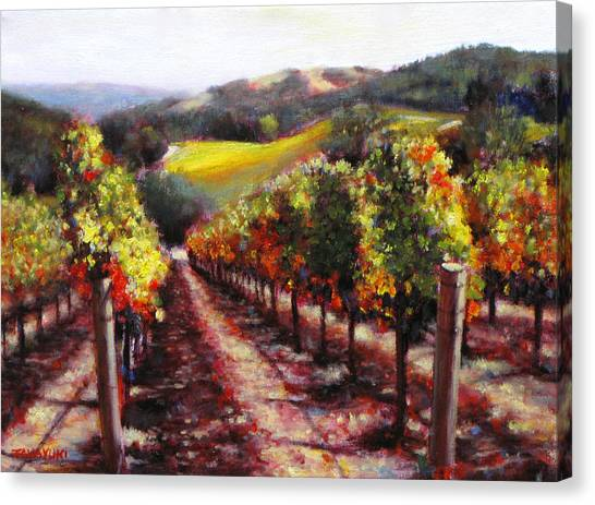 Napa Hill Side Vineyard Canvas Print by Takayuki Harada
