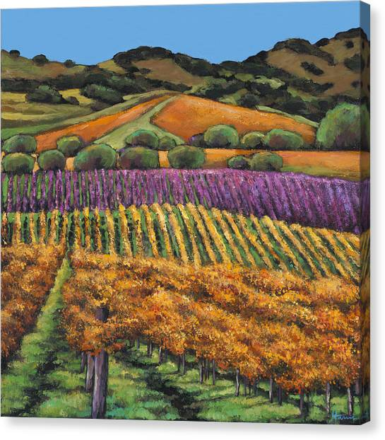 Red Wine Canvas Print - Napa by Johnathan Harris