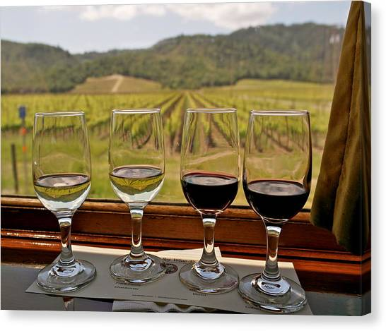 Napa Valley Wine Train Delights Canvas Print