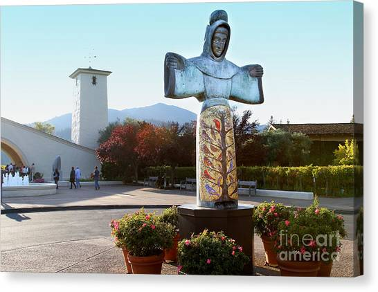 Napa Valley Winery 7d9046 Canvas Print by Wingsdomain Art and Photography