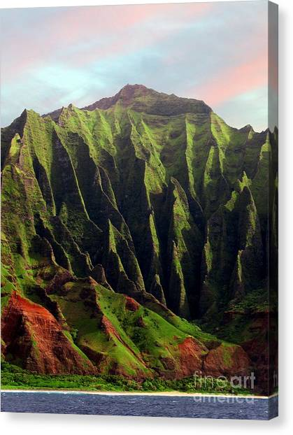 Napali Coast On Kauai  Canvas Print