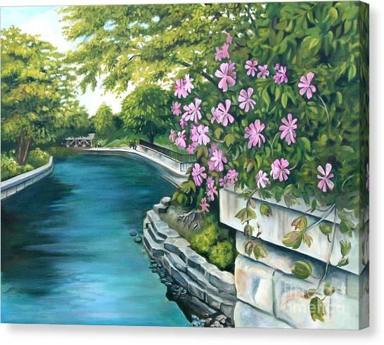 Naperville Riverwalk Canvas Print