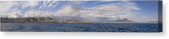 Naples Panorama Canvas Print by Chris Cameron