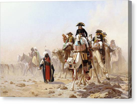 Arabian Desert Canvas Print - Napoleon And His General Staff by Jean Leon Gerome
