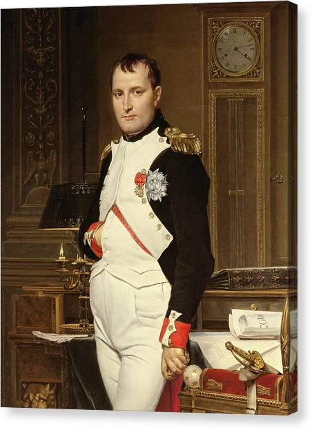 The Legion Canvas Print - Napoleon Bonaparte In His Study by Jacques Louis David