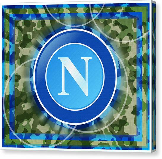 Serie A Canvas Print - Napoli Football Soccer Italy by Tony Rubino