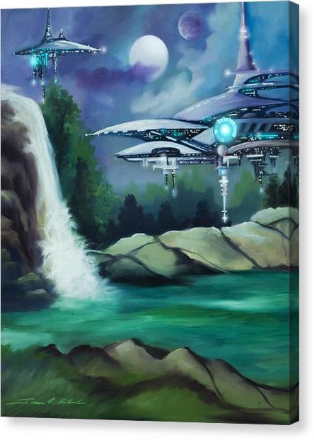 Stellar Canvas Print - Narada City  by James Christopher Hill