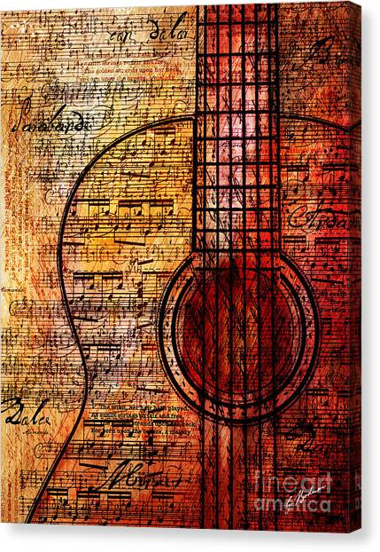 Classical Guitars Canvas Print - Naranja De Grecas by Gary Bodnar
