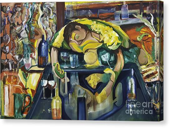 Narcisisstic Wine Bar Experience - After Caravaggio Canvas Print