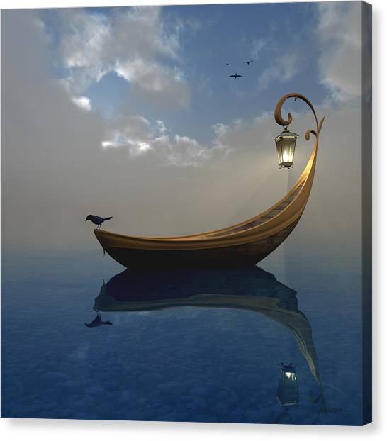 Boats Canvas Print - Narcissism by Cynthia Decker