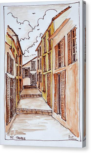 Scotty Canvas Print - Narrow Streets In The Small Town by Richard Lawrence