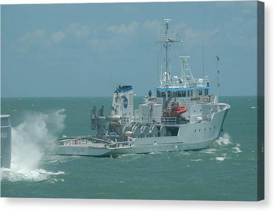 Nasa Ship Liberty Star Canvas Print by Bradford Martin
