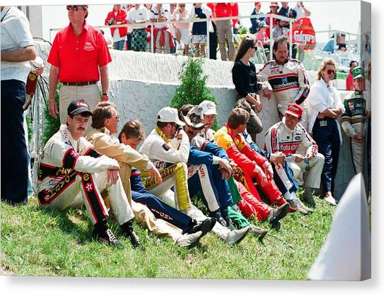 Nascar Canvas Print - Nascar Greats- Earnhardt Allison Petty Martin by Retro Images Archive