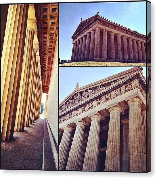 The Parthenon Canvas Print - #nashville #parthenon #beautiful by Chris Bergstrom