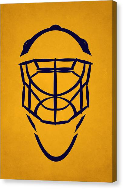 Nashville Predators Canvas Print - Nashville Predators Goalie Mask by Joe Hamilton