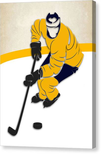 Nashville Predators Canvas Print - Nashville Predators Rink by Joe Hamilton