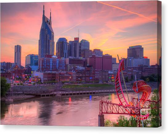 Nashville Sunset Canvas Print