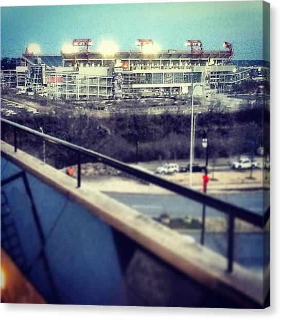 Tennessee Titans Canvas Print - Nashville, Tn - Titans Stadium by Trey Kendrick