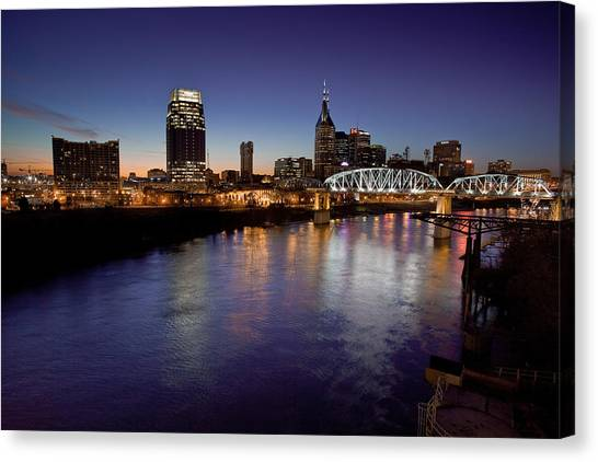 Nashville's River Canvas Print