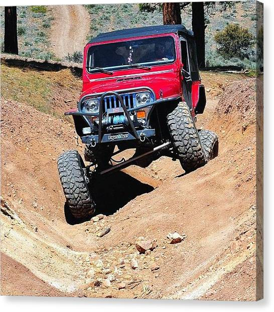 Offroading Canvas Print - @natas03 And red Stretching Her by James Crawshaw