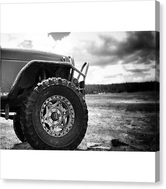 Offroading Canvas Print - @natas03 Jeep Over Looking Hunter Lake by James Crawshaw