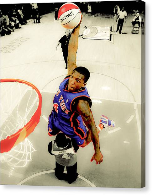 Denver Nuggets Canvas Print - Nate Robinson by Brian Reaves