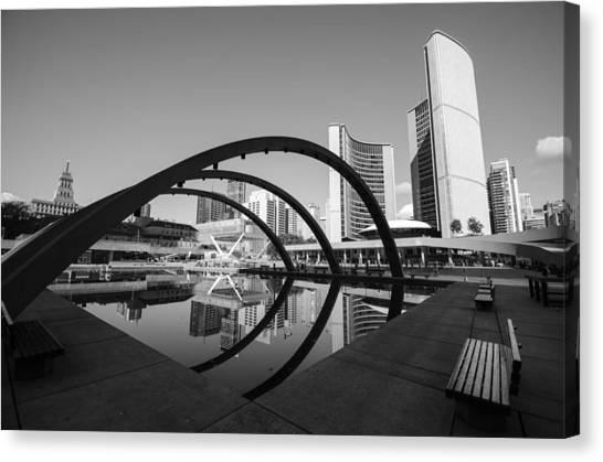 Nathan Phillips Square Canvas Print by Eric Dewar