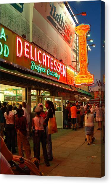 Nathans Coney Island Canvas Print