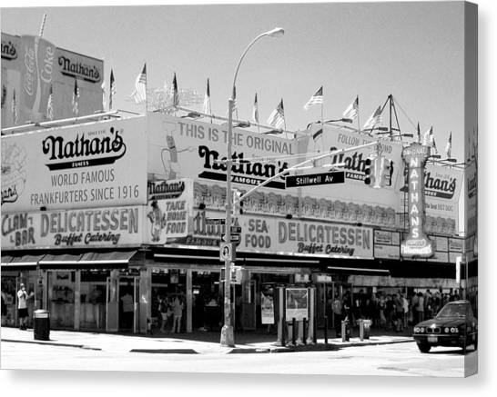 'nathan's Famous Hot Dogs' Canvas Print