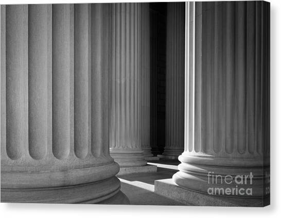 Greece Canvas Print - National Archives Columns by Inge Johnsson