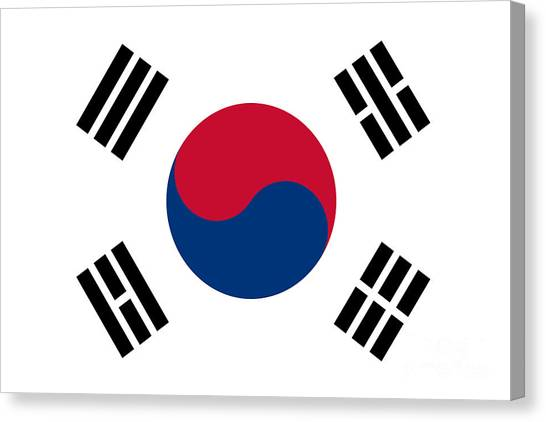 National Flag Of South Korea Authentic  Canvas Print